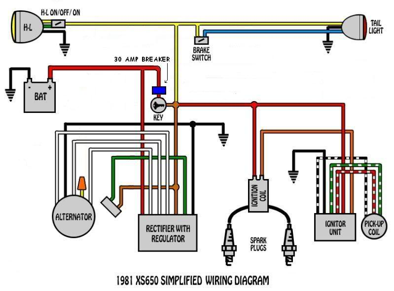 xs650 wiring diagram kick stand xj550 wiring diagram, fz700 Stop Light Wiring Diagram  Wiring a Non-Computer 700R4 Chopper Wiring Diagram Cafe Bike Wiring Diagram