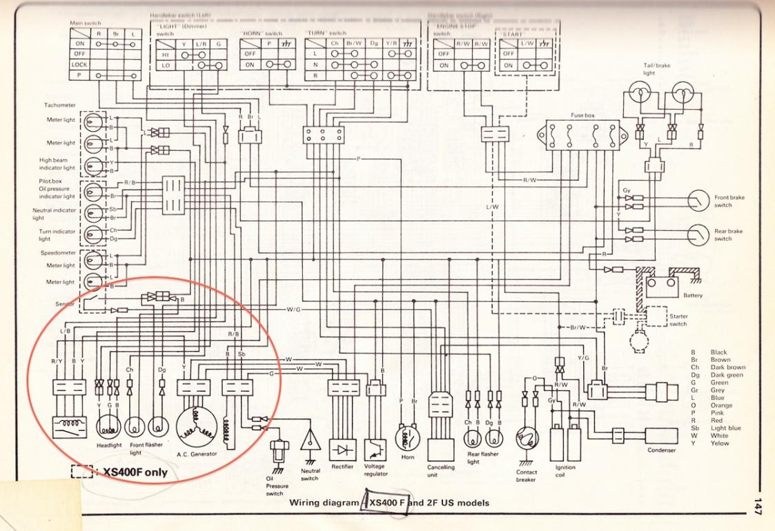 Xs400 Wiring Diagram Land Cb750 Data