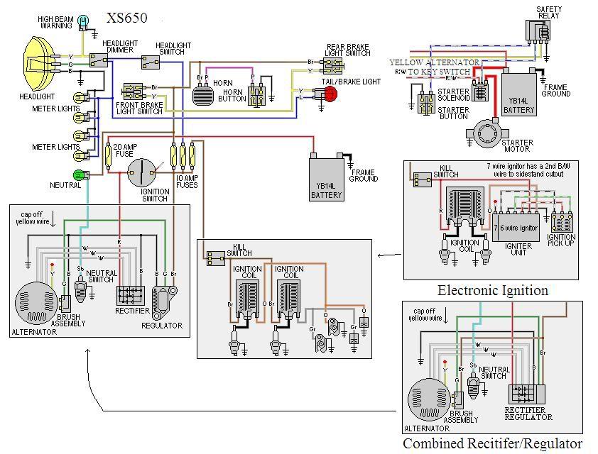 1999 yamaha 650 wiring diagram yamaha wiring diagrams instructions rh ww justdesktopwallpapers com 82 Yamaha Maxim 650 650 Yamaha Motorcycle Wiring Diagrams
