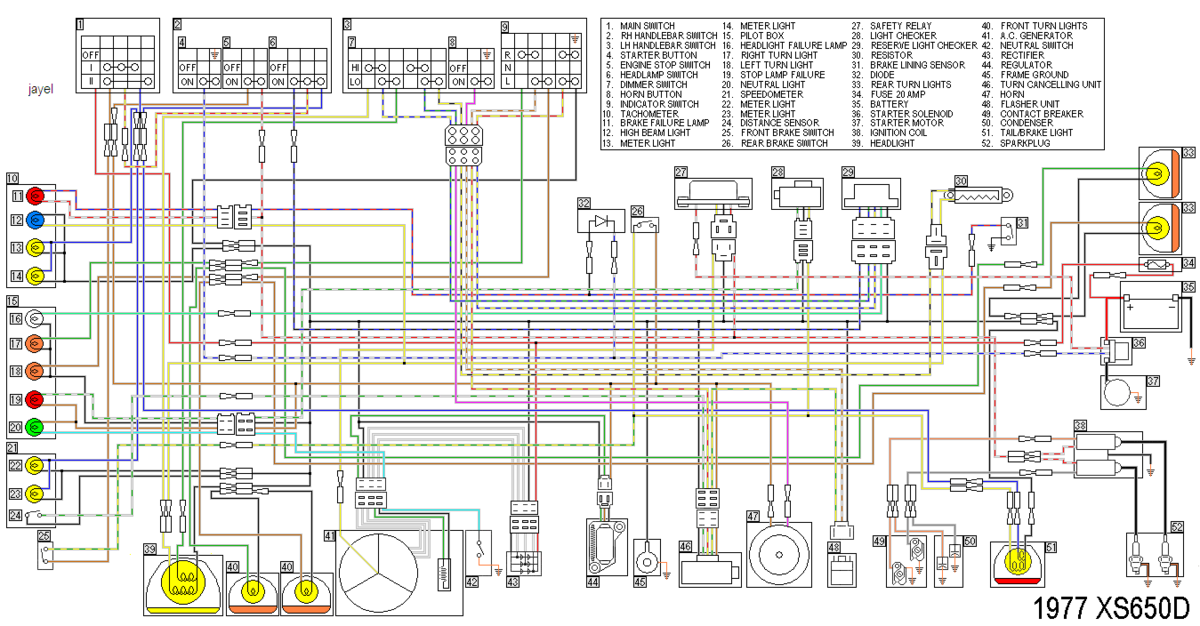 Xs650d Wiring Diagram