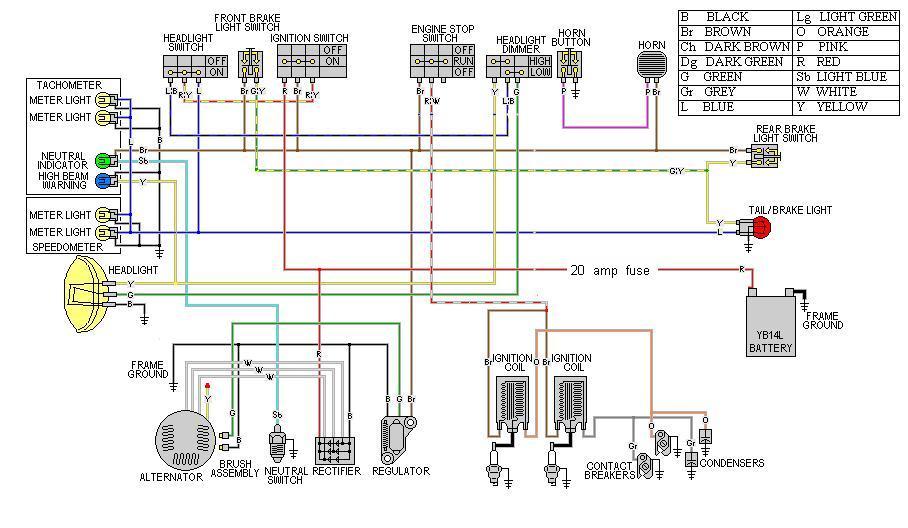 xs400 simplified wiring diagram yamaha wiring diagram