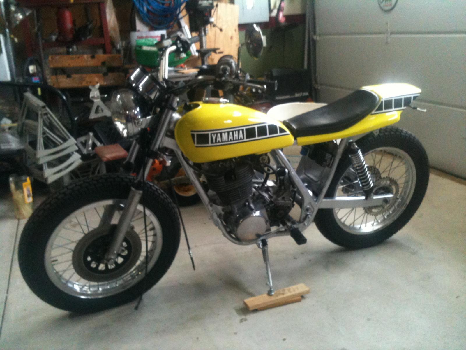 The base bike was a 1980 xs650 in a very poor state cylinders where - Bikebars Jpg