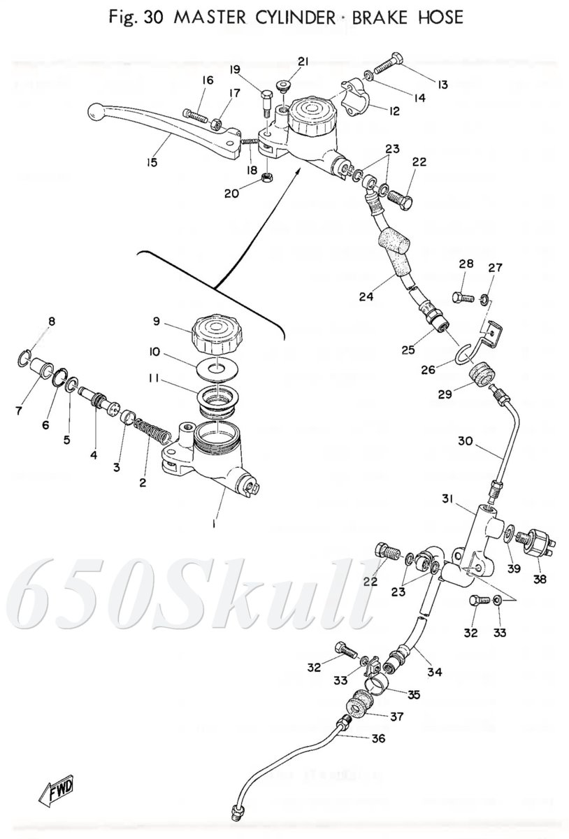 crop  text 74 TXA-75XSB Parts manual098 Brake line.jpg