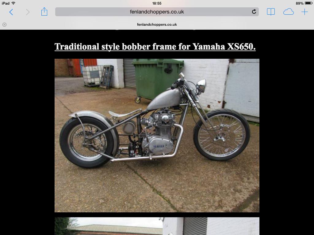 Xs650 Bobber Frame Uk | Frameswalls org