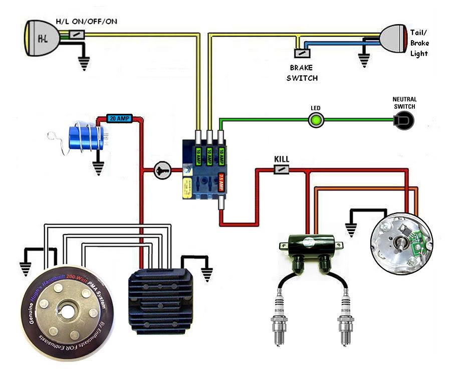 help! wiring nightmare!!! yamaha xs650 forum 2003 yamaha banshee headlight wiring diagram at honlapkeszites.co