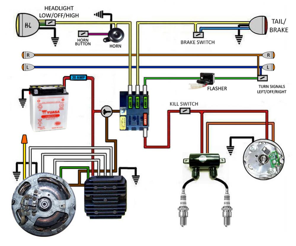 7 Wire Motorcycle Regulator Wiring Diagram from www.xs650.com