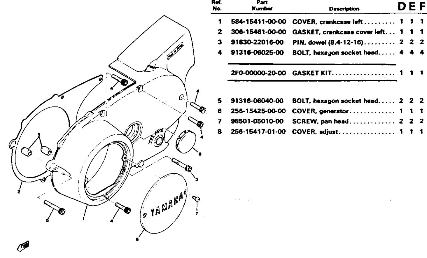 left hand engine covers yamaha xs650 forum rh xs650 com Fire Harley Ignition Wire Diagram for Duo Suzuki LT80 Carburetor Diagram