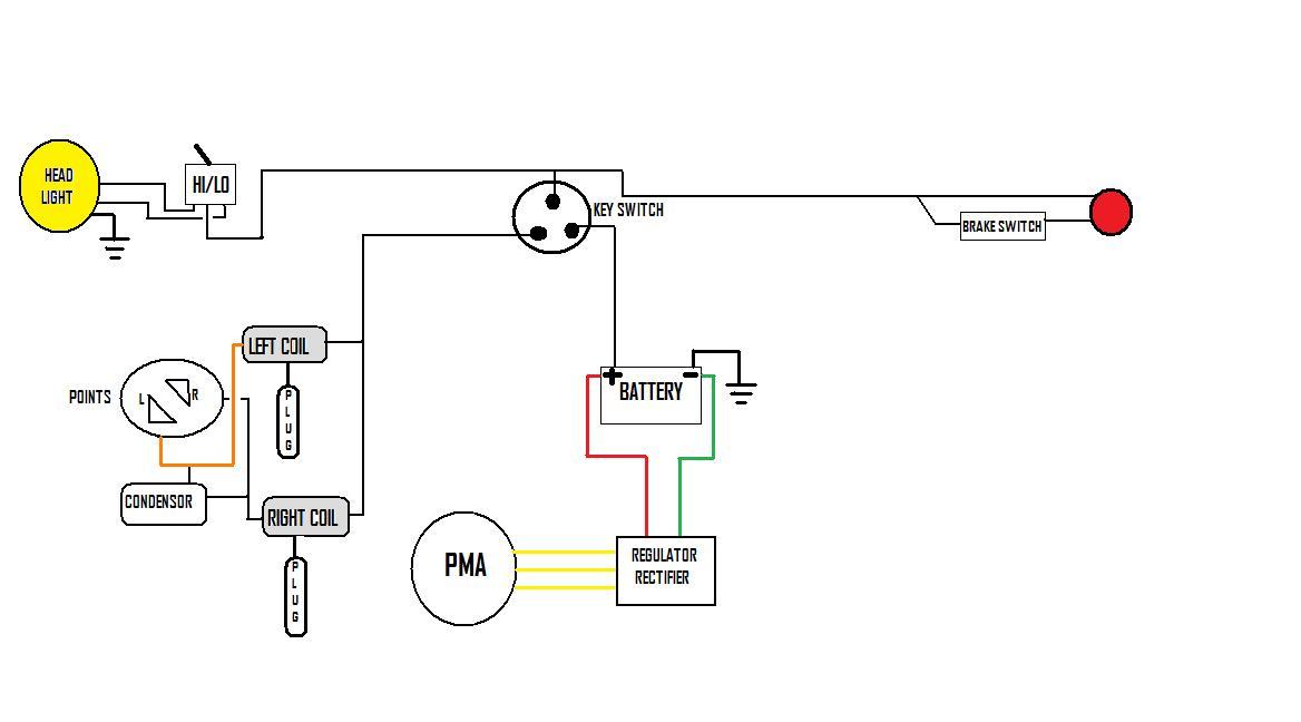 kickstart only wire diagram | Yamaha XS650 Forum | Battery Wiring Diagram With Kickstart |  | Yamaha XS650 Forum