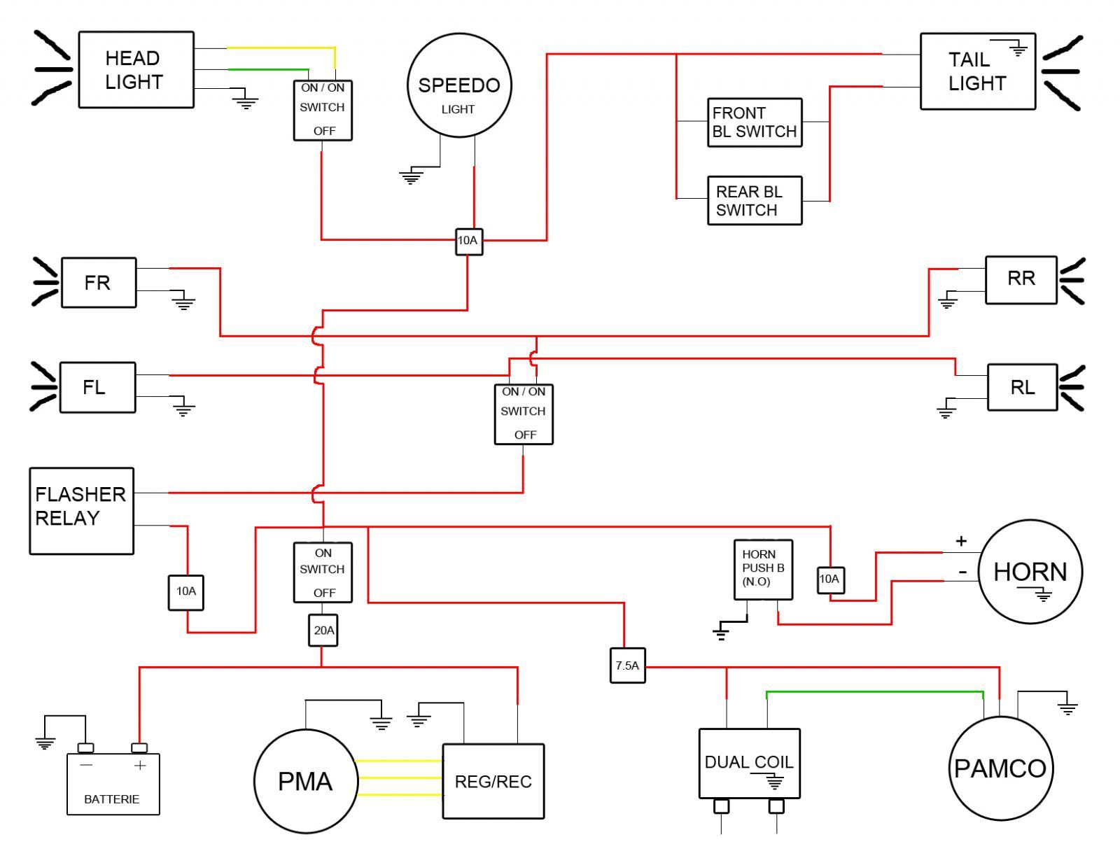 Xs650 simplified wiring diagram yamaha xs650 forum xs650 schematicsg pooptronica