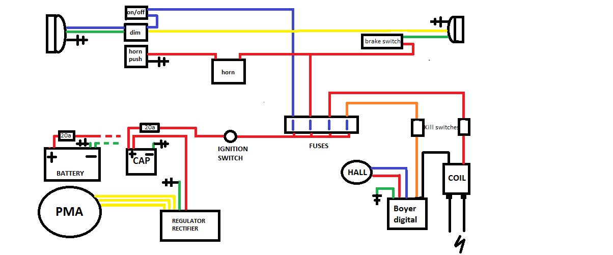 hugh's pma weak spark with sparx capacitor | yamaha xs650 forum sparx wiring diagram triumph kenworth t800 fuse panel diagram yamaha xs650 forum