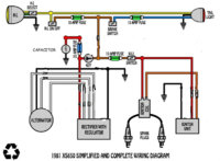 1980 xs650 alternator  stator wiring questions yamaha