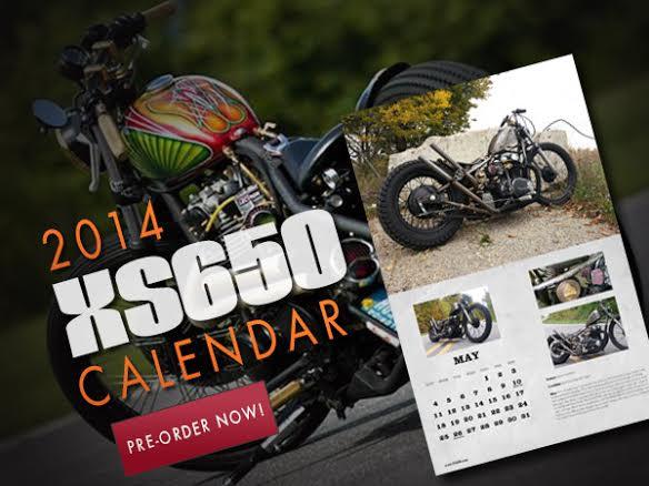 2014 Yamaha XS650 Calendar Pre-Order