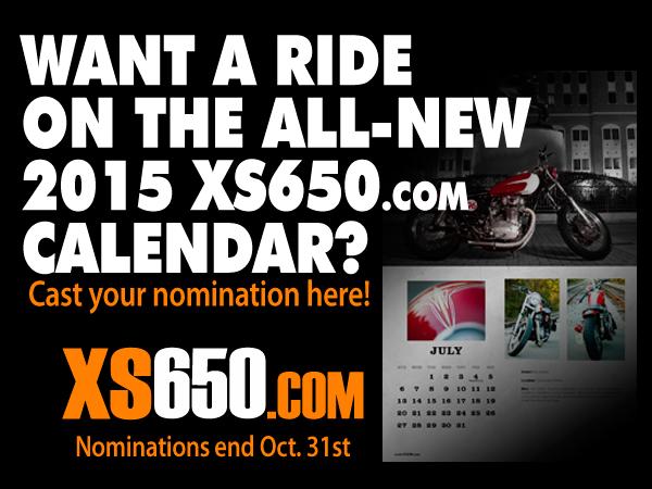 2015 Yamaha XS650 Calendar Nominations