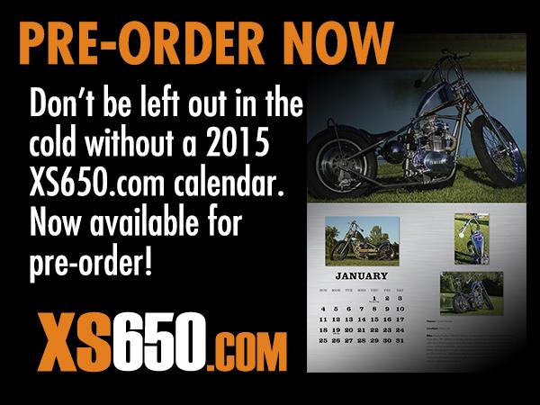 2015 Yamaha XS650 Calendar Pre-sale