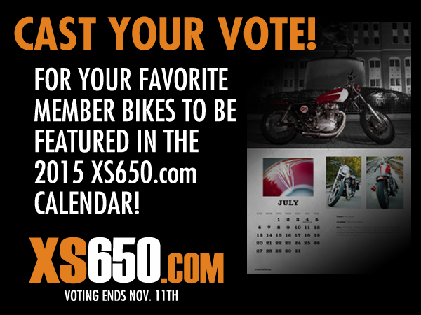 2015 Yamaha XS650 Calendar Voting