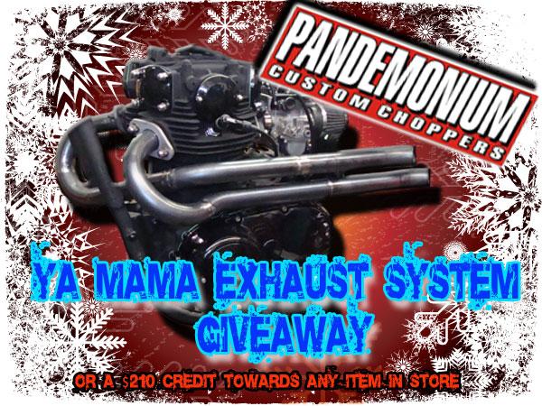 Pandemonium XS650 Exahust Giveaway Contest